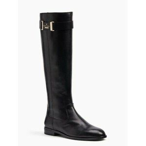 Kate Spade Ronnie Black Leather Riding Boots 11M